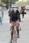 woman biking
